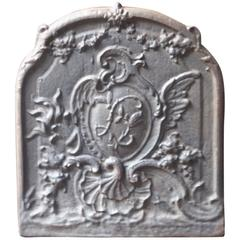 French Rococo Style Decoration Fireback