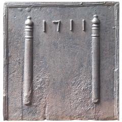 18th Century French Pillars of Hercules Fireback