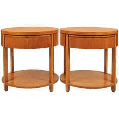 Pair of 1980s US Nightstands by Charles Pfister
