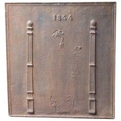 19th Century Neoclassical Pillars Fireback