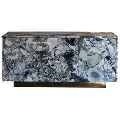 Flair Edition One of a Kind Ice Connect Marble Sideboard