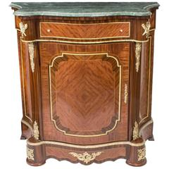 Beautiful Mahogany and Rosewood Serpentine Side Cabinet, Late 20th Century