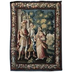 "Tapestry Aubuson, France ""1665"" Signed Mr Aubusson Corneille"