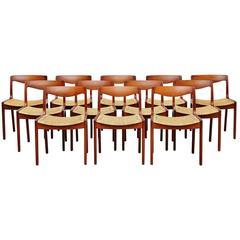 Vilhelm Wohlert Dining Chairs P. Jeppesen Denmark, 1958