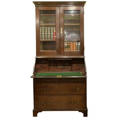 George II Cuban Mahogany Bureau Bookcase