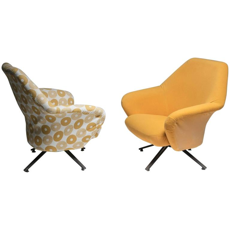 "Set of Two ""P32"" Lounge Chairs by Osvaldo Borsani for Tecno For Sale"