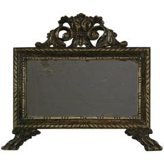 Late 18th Century Italian Carved and Silvered Mirror