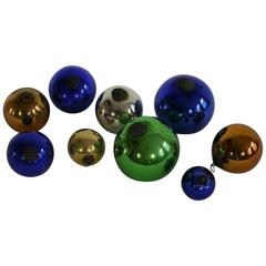 Collection of 19th Century Rare French Mercury-Glass Balls