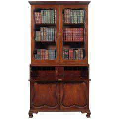 Early George III Mahogany Secretaire Bookcase