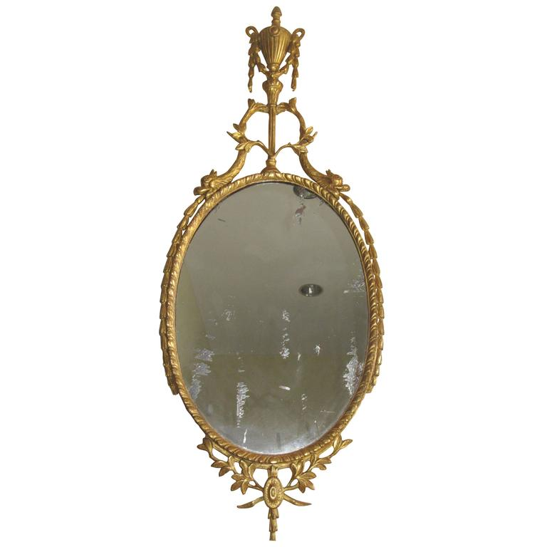 19th Century English Giltwood Wall Mirror For Sale