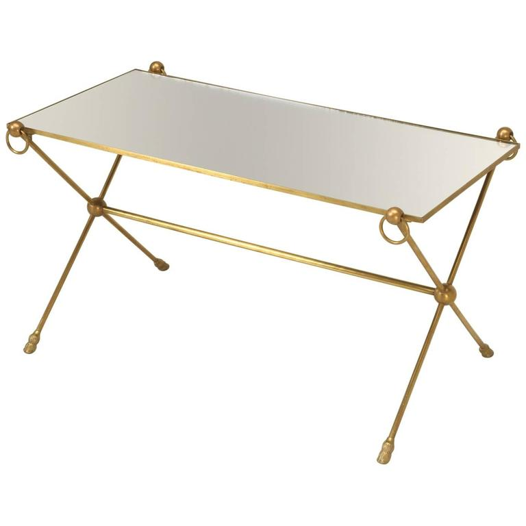 French Mid-Century Modern Coffee Table with Bronze Hoof Feet
