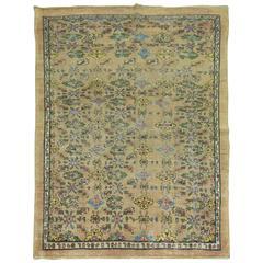 Vintage Persian Mahal Square Rug