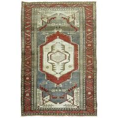 Antique Persian Serapi Pictorial Rug