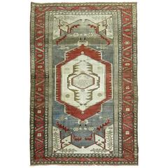 Antique Persian Serapi Accent Rug