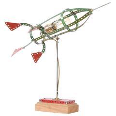 Meccano Rocket Lamp by Billy Leliveld, Netherlands