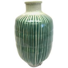 Japanese Shigaraki Storage Jar