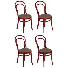 Set of Four Thonet Bentwood Cafe Chairs