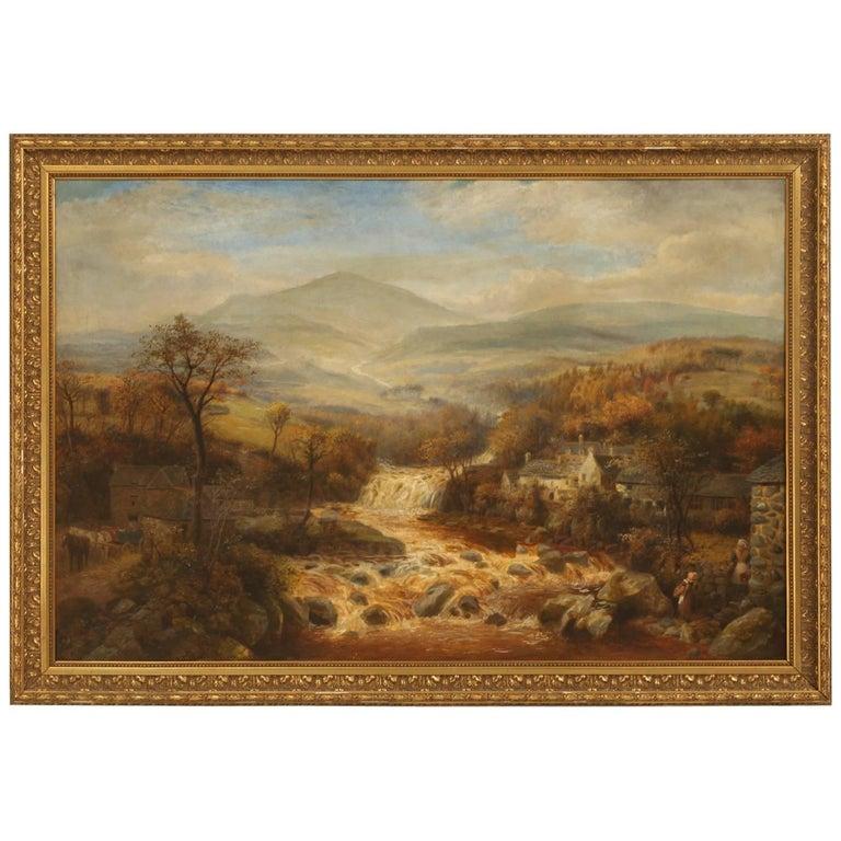 Antique English Landscape Oil Painting