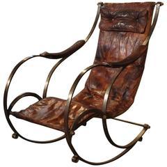 English Steel Rocking Chair