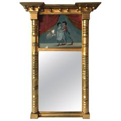 19th Century Federal Guild Gold Framed Wall Mirror