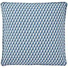 Mid-20th Century Frank Lloyd Wright for Schumacher Blue Custom Linen Pillow