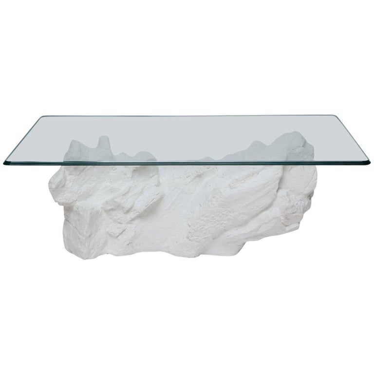 1970s Sirmos Cast Plaster Quarry Rock Coffee Table 1