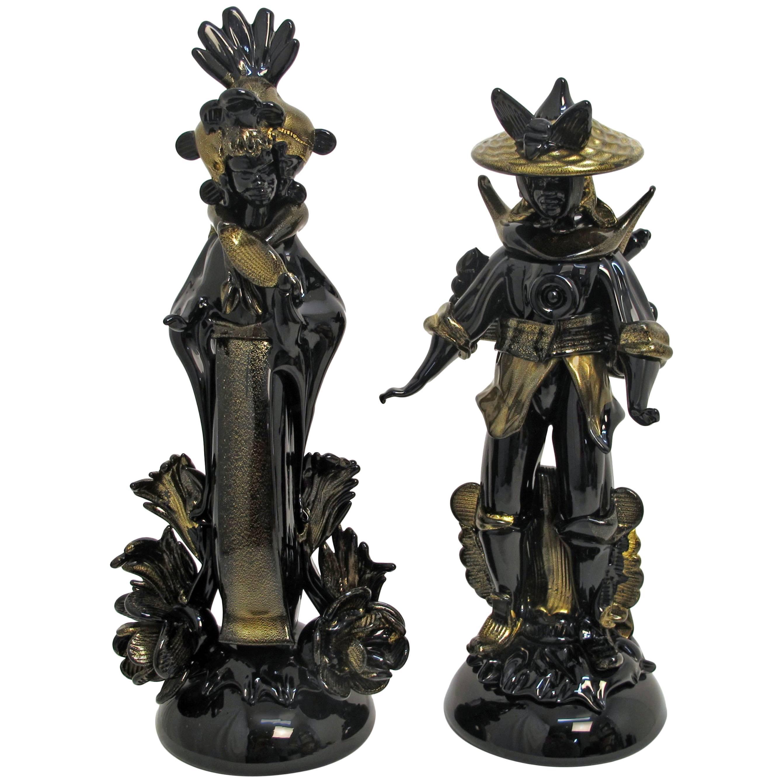 Pair of Barovier Murano Glass Moorish Figures