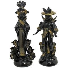 Barovier Murano Glass Blackamoor Figures