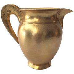 20th Century Hi-End Italian Florence Pampaloni Sterling Gilded Water Pitcher