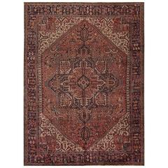 Great Looking Vintage Persian Heriz Rug