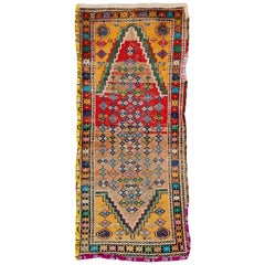 Distressed Vintage Persian Malayer Rug