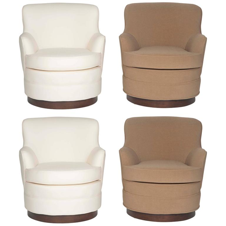 Set of Mid-Century Modern Swivel Tele-Chairs by Harvey Probber