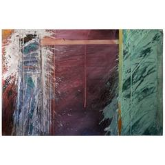 Spectacular Large Modern Abstract Painting from California Artist David Hering