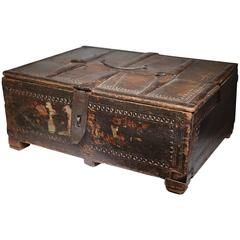 19th Century Rajasthani Wooden Document Box, circa 1800s