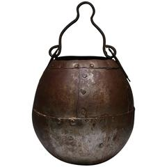 Late 19th-Early 20th Century Riveted Metal Bucket