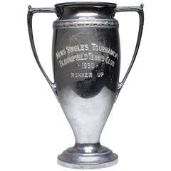 Early 20th Century Silver Plated Tennis Club Trophy, circa 1930
