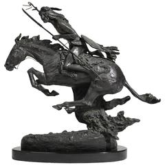 "Frederic Remington ""The Cheyenne"" Bronze Sculpture"