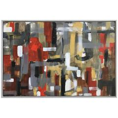Aleck Wilson Abstract Oil Painting, circa 1950s, California