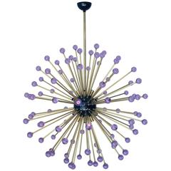 Italian Modern Purple Murano Glass Sputnik