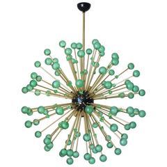 Italian Modern Green Murano Glass Sputnik