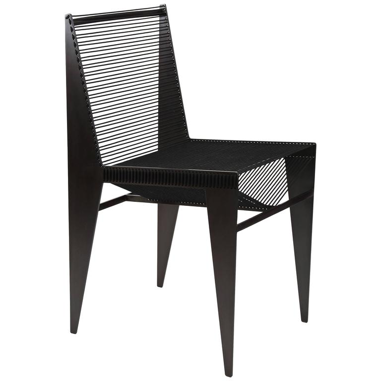 The Icon Chair in steel and rope by Christopher Kreiling For Sale