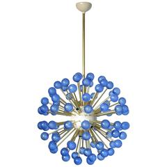 Italian Modern Blue Murano Glass Sputnik