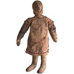 Eskimo Hide Doll with Hide Face