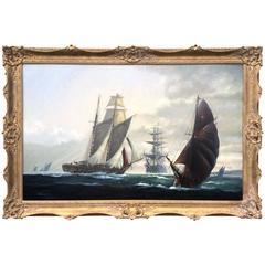 """The Armada Underway"" by Michael Whitehand Nautical Painting"