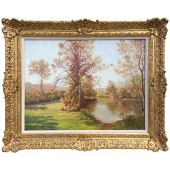 """The Tranquil River"" by Charles Edmond Rene His"
