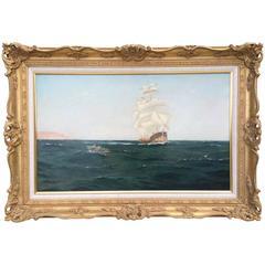 """Going Ashore"" by Sydney Phillips, 19th Century British Marine Painting"