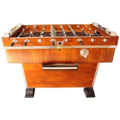 1920s French Foosball Table in Wood and Aluminium