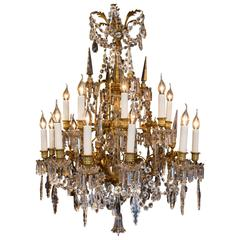 Late 19th Century Ormolu and Crystal Chandelier Sign by Cristalleries Baccarat