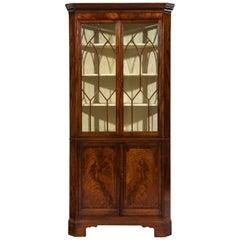 Late George III 19th Century Period Mahogany Standing Corner Cabinet