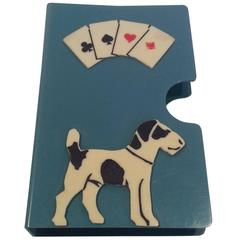 Art Deco Bakelite Card Case with Dog Decoration